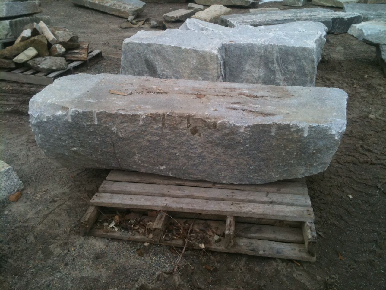 Large Granite Bench Stone Of New England
