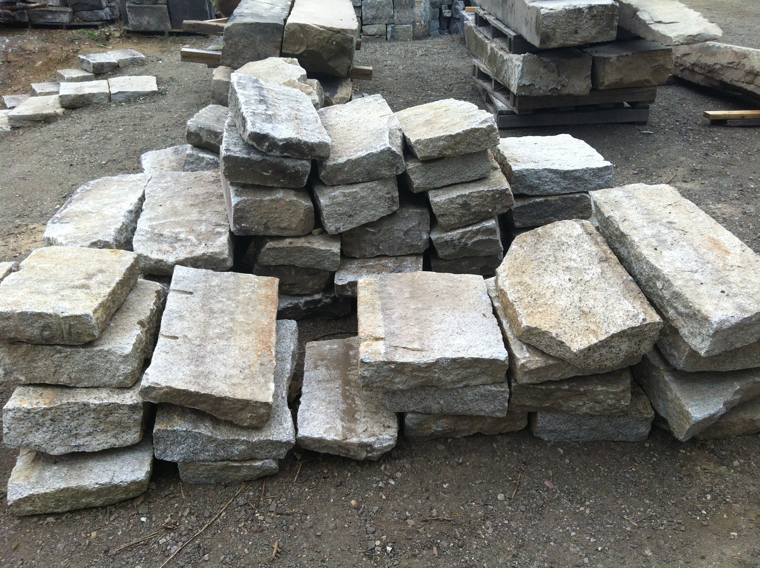 Granite Stepping Stones : Reclaimed granite stepping stones stone of new england